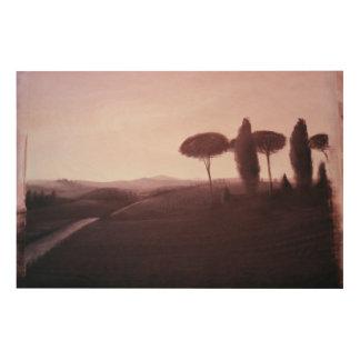 トスカナ式の景色1992年 ウッドウォールアート