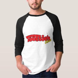 トッツィーのキャバレー3/4の袖のジャージーのティー Tシャツ