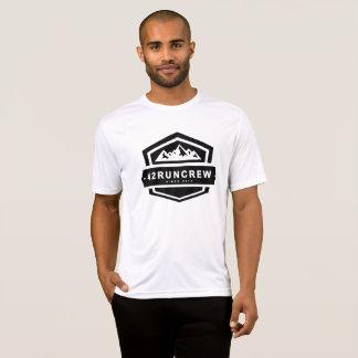 トップの大きいロゴを走る42RunCrewメンズ Tシャツ
