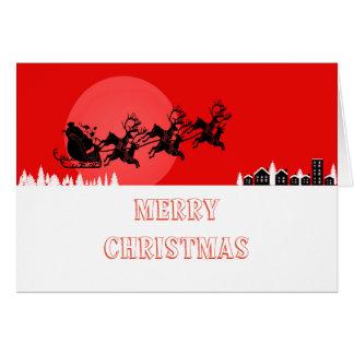 トナカイおよび父のクリスマスの挨拶状 カード