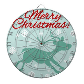 トナカイおよび雪片とのクリスマスのテーマ ダーツボード