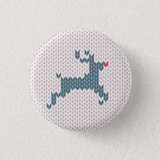 トナカイのクリスマスのセーターボタン 3.2CM 丸型バッジ