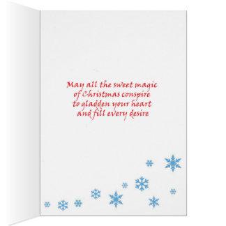 トナカイのクリスマスカード カード
