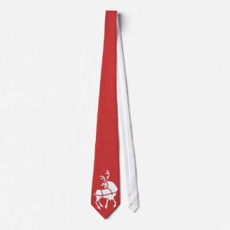 トナカイのタイのお祝いのクリスマスのネクタイ及びギフト オリジナルネクタイ