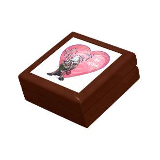 トナカイのバレンタインデー ギフトボックス