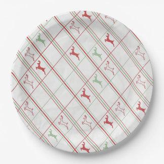 トナカイの上昇のクリスマス・パーティの紙皿 ペーパープレート