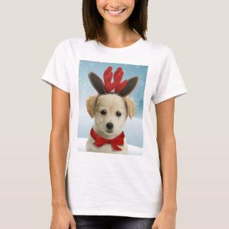 トナカイの子犬のクリスマスのTシャツ Tシャツ