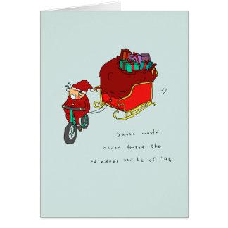 トナカイの殴打|のおもしろいなサイクリングのクリスマスカード カード