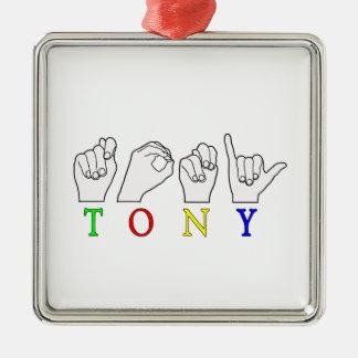 トニーASL FINGERSPELLEDの一流の印 メタルオーナメント