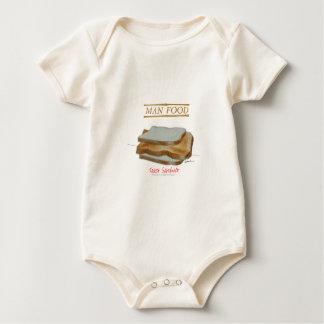 トニーFernandesの人の食糧-トーストサンドイッチ ベビーボディスーツ