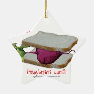 トニーFernandesの人の食糧- ploughmansの昼食 セラミックオーナメント