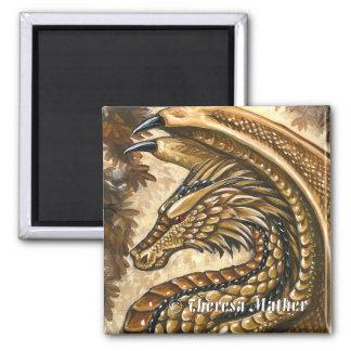 トパーズのドラゴンの正方形の磁石 マグネット