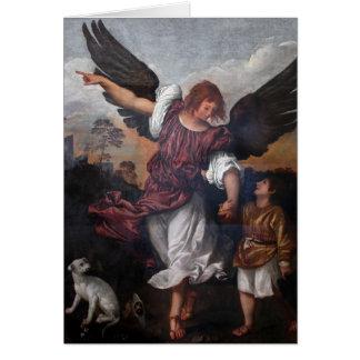 トビアスおよび大天使Raphael - Titian カード