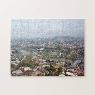 トビリシの全景ジョージアの首都 ジグソーパズル