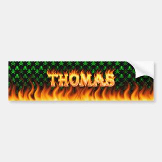 トマスの実質火および炎のバンパーステッカーは設計します バンパーステッカー