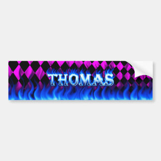 トマスの青い火および炎のバンパーステッカーは設計します バンパーステッカー