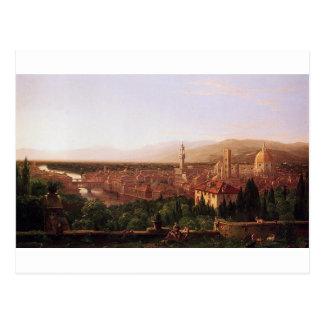 トマスのColeによるサン・ミニアートからのフィレンツェの眺め ポストカード