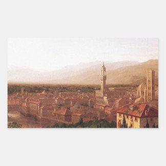 トマスのColeによるサン・ミニアートからのフィレンツェの眺め 長方形シール