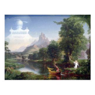 トマスのColeによる人生の青年の旅行 ポストカード