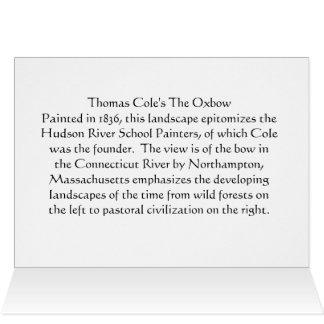 トマスのColeのOxbowによって折られるカード カード