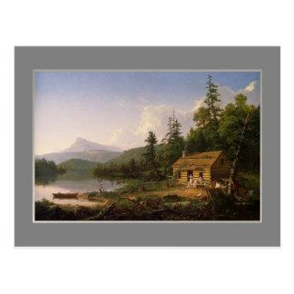トマスのCole、森、1847.の家 ポストカード