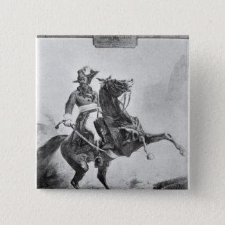 トマスアレグサンダーの乗馬のポートレート 5.1CM 正方形バッジ