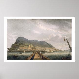 トマスサザランドfが刻むジブラルタルの眺め ポスター
