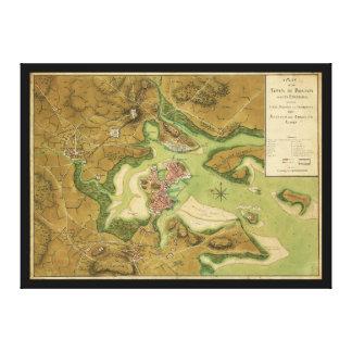 トマスハイドのページ(1776年)によるボストン地図の町 キャンバスプリント