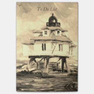 トマスポイント灯台セピア色 ポストイット