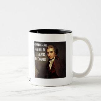 トマス・ペインの常識のコップ ツートーンマグカップ