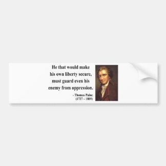 トマス・ペインの引用文3b バンパーステッカー