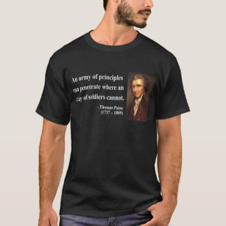 トマス・ペインの引用文4b tシャツ