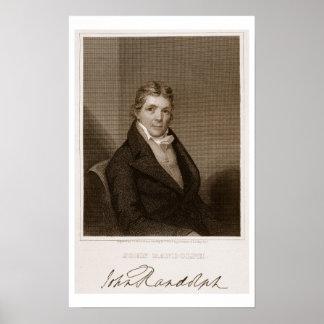 トマスB.著刻まれるジョンランドルフ(1773-1833年)。 私達 ポスター