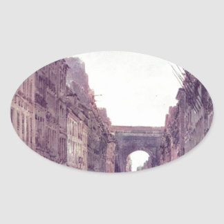 トマスGirtin著パリの通り聖者デニス 楕円形シール