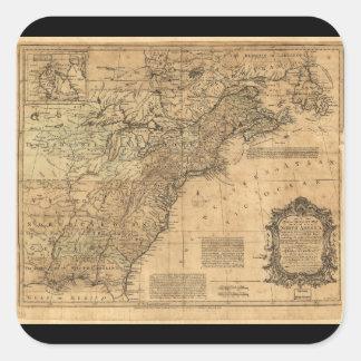 トマスKitchin (1755年)著北アメリカの地図 スクエアシール
