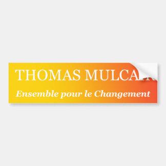 トマスMulcair バンパーステッカー