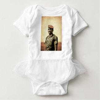 トマスSankara -ブルキナファソ-アフリカの大統領 ベビーボディスーツ