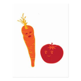 トマトおよびにんじん ポストカード