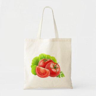 トマトおよびレタスの葉 トートバッグ