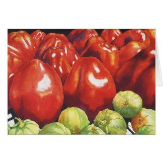 トマトおよびTomatillios カード