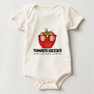 トマトのギークの物 ベビーボディスーツ