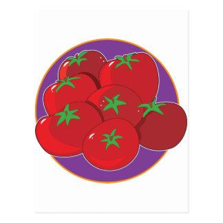 トマトのグラフィック ポストカード