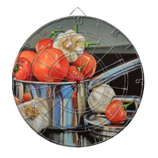 トマトのコショウのニンニクのメドレー ダーツボード