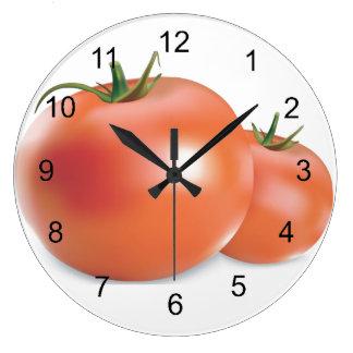 トマトのデザインの柱時計 ラージ壁時計