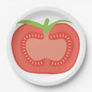 トマトのプレート ペーパープレート
