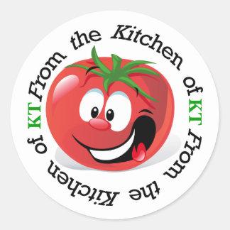 トマトの台所ステッカー- SRF ラウンドシール