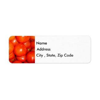 トマトの差出人住所ラベル ラベル