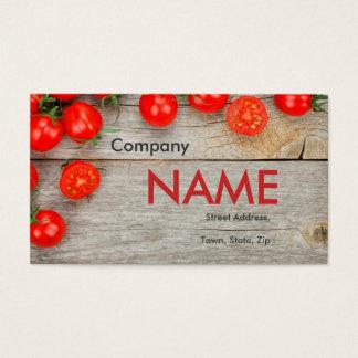 トマトの新しいジュースの野菜菜食主義カード 名刺