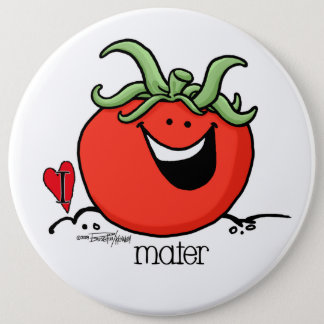 トマトの漫画-野菜ボタン 缶バッジ