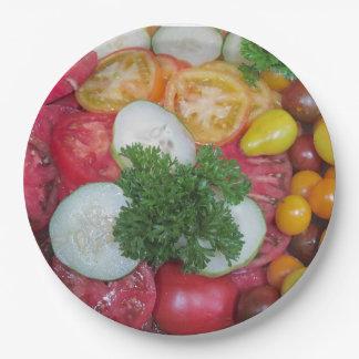 トマトの紙皿 ペーパープレート